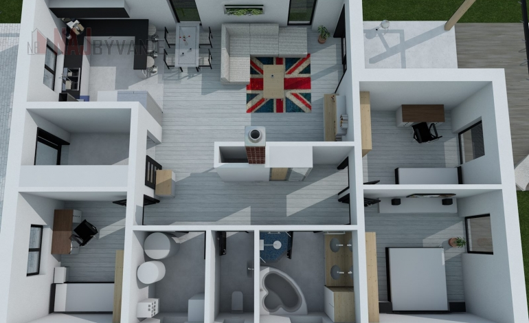 Znížená cena - Na predaj stavebný pozemok s projektom v Hubovej